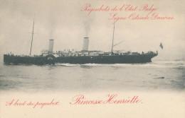 Carte Postale Paquebot 4 Princesse Henriette  Non Utilisée   --  XX108 - Stamped Stationery