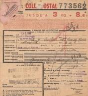 Bulletin D´expédition  N° 773562 Avec Colis Postaux N° Sans  -     CN - Colis Postaux
