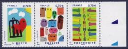 Triptyque Liberté Egalité Fraternité BDF (2016) Neuf** - France