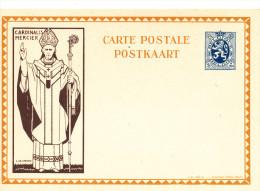 Carte Illustrée Cardinal Mercier 50 C - Non Utilisée  --  XX123 - Stamped Stationery
