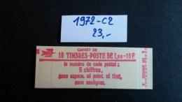 Carnet N° 1972-C2  Neuf ** à 20% De La Cote  TTB - Definitives