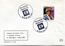 Polynésie - Cachet Commémoratif - HAFNIA 87 Danmark 16 Au 25 Octobre 1987 - R 2122 - Frans-Polynesië