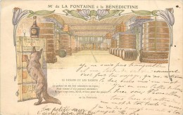 Mr DE LA FONTAINE A LA BENEDICTINE - Carte 1900. - Publicité