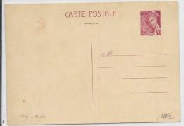 MERCURE - 1939 - CARTE ENTIER POSTAL NEUVE - DATE 931 - COTE STORCH = 30 EUROS - Entiers Postaux