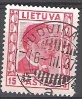 Lietuva 1936 Michel 410 O Cote (2013) 0.30 Euro Antanas Smetona Cachet Rond - Lituania