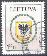 Lietuva 2001 Michel 775 O Cote (2013) 1.50 Euro Armoirie Birzai Cachet Rond - Lituanie