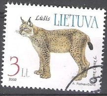 Lietuva 2002 Michel 790 O Cote (2013) 3.00 Euro Lynx Cachet Rond - Lithuania