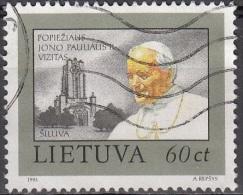 Lietuva 1993 Michel 534 O Cote (2013) 0.85 Euro Visite De Pape Jean-Paul II Cachet Rond - Lituanie