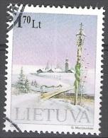 Lietuva 2000 Michel 743 O Cote (2013) 1.80 Euro Nouvel An Paysage Cachet Rond - Lituanie
