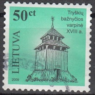 Lietuva 2007 Michel 923II O Cote (2013) 0.40 Euro Clocher De Tryskiai Cachet Rond - Lituanie