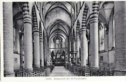 GEEL-KERK-BINNENZICHT-ST.DIMPHNAKERK-UITGAVE-VAN DYCK-1936-TAKSZGEL-ZIE 2 SCANS - Geel