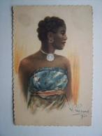 Illustrateur Signé L.Liézard 1930 Belle FEMME MALGACHE Exposition Coloniale Internationale De Paris 1931 - Illustrateurs & Photographes