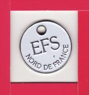 JETON DE CADDIES  -- DON DU SANG -- EFS NORD De FRANCE - Jetons De Caddies