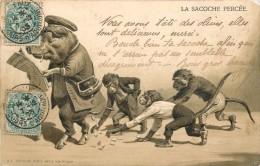 LA SACOCHE PERCEE - Cochon Lisant Le Journal. - Cochons