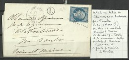 N° 14 Sur Lettre De Chinon Pour Forteresse Voir Scan - Marcophily (detached Stamps)