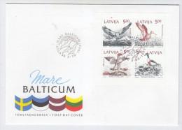 Latvia BIRDS MARE BALTICUM FDC 1992 - Vogels