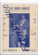 Carte ( Format 14 X 10,5 Cm ) Clowns Musicaux  LES BOGY BOUGY ( Jean Gradella ) Rue Wilson à Nancy Vandoeuvre ( Cirque - Cirque