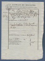 63 PUY DE DÔME - EXTRAIT REGISTRE BUREAU HYPOTHEQUES CLERMONT ( FERRAND ) - VIC SUR ALLIER BERAUD / LAPS PRAIRIAL AN 13 - Historische Dokumente