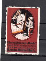 Vignette, Firma, Werbemarke Ulm, Remlu Werke, Eiszerkleinerer, Ca. 1910 - Werbung