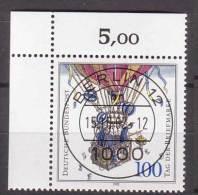 BRD , 1992 , Mi.Nr. 1638 O Eckrand Ersttagsstempel - Gebraucht