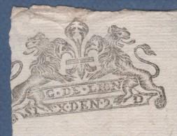 42 LOIRE - BELLE GENERALITE DE LION ( LYON )- ACTE D'HUISSIER DATE DE 1703 - COMTE DE BUSSY - Documents Historiques