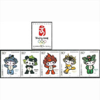 China 2005-28 Emblem And Mascots Of 2008 Olympic Games Stamps - Summer 2008: Beijing