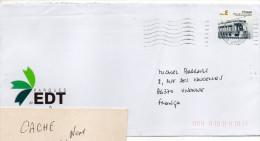 """Portugal--2008--Lettre De Amarante Pour La France--timbre """"Tramway""""--cachet CIT  AMARANTE - 1910-... République"""