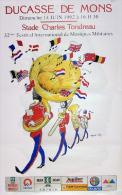 -- Affiche Ducasse De Mons / Bergen 1992 - Affiches