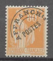 FRANCE  Préoblitéré N° 75 XX  80 C. Orange Bon Centrage   Sans Charnière, TB - Voorafgestempeld