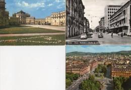 Torino - Lotto 3 Cartoline STUPINIGI CASTELLO / C.so MATTEOTTI Scuola CARDUCCI / PANORAMA E P.ZZA STATUTO - OTTIMO L94 - Italia