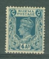 Burma: 1938/40   KGVI   SG28    4a    MH - Burma (...-1947)