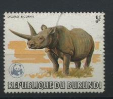 1983  WWF  5F   Rhino  Bi Cornes   Dépareillé Ø - Burundi