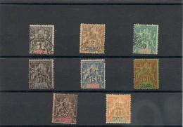 NOUVELLE CALÉDONIE   Année 1892 N°Y/T : 41/42-44/48-50 Oblitérés Côte: 50,00 € - Gebraucht