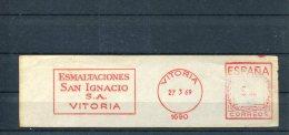 3933 Spain,  Red Meter  Freistempel, Vitoria,  Esmaltaciones San Ignacio Vitoria,  Fragment !!! - Marcophilie - EMA (Empreintes Machines)