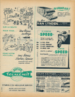 Ancienne Publicite (1952) : Scooter SPEED, Pain D'Epices VAN LYNDEN, Station TECALEMIT, Salon Nautique... - Publicités
