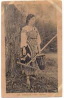 RUSSLAND - Russiche Typen - Gärtnerin, 1917, Deutsche Feldpost Pinsk - Russland
