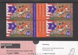 Nederland - Werelkamioenschappen Voetbal 1994 - Verenigde Staten - Postzegelmapje 124 - MNH - NVPH 1614 - World Cup