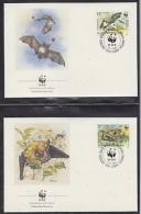 Bulgaria 1989   WWF /  Batts 4v 4 FDC  (W751) - W.W.F.