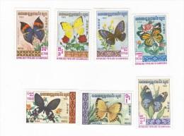 Cambodia 1983 Moths MNH - Butterflies