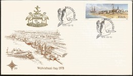 E)1978 NAMBIDIA, WALVISBAAI BAY, SHIELD, PELICAN, FDC - Namibia (1990- ...)