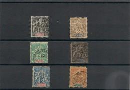 NOUVELLE CALÉDONIE Année 1892  Lot Oblitérés - Gebraucht