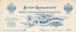 Lettonie - Riga - Entête 1902 - A.Wolfschmidt -Actien-Gesellschaft Der Hefefabrik Branntweinbrennerei Spritrectification - Fatture & Documenti Commerciali