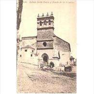 MLGTP1515CPA-LFTC230TIR.Tarjeta Postal De MALAGA.IGLESIA DE SANTA CECILIA Y FUENTE DE LOS 8 CAÑOS EN RONDA.Malaga. - Iglesias Y Catedrales