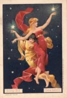 4 Chromos Quina Laroche  - Femme  - Etoiles Soeurs , Eclipse De Soleil , Eclipse De Lune , Arc En Ciel - - Poulain