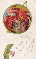 Femme - La Haine - Style Art Nouveau - Dessin Signe L B - Illustrateurs & Photographes