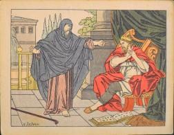 HISTOIRE SAINTE - Série XI - N° 105 - Le Prophéte Reprend David De Son Cri - Illustrée Par : G. Le Doux -  En Bon Etat - - Images Religieuses
