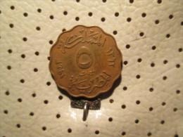 EGYPT 5 Milliwmes 1943  # 4 - Egypt