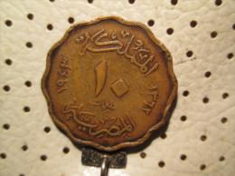 EGYPT 10 Milliemes 1943  # 4 - Egypt
