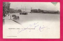 17 CHARENTE-MARITIME ROCHEFORT-sur-MER, Pont De Tonnay-Charente,  Précurseur, 1903, Animée, Bateaux, (Galeries Parisienn - Rochefort