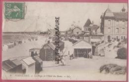 44 - PORNICHET--La Plage Et L'Hotel Des Bains--animé - Pornichet